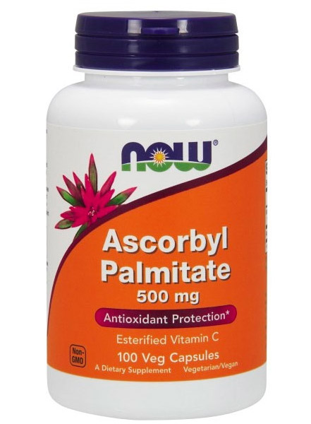 Ascorbyl Palmitate 500 mg NOW (100 вег кап)