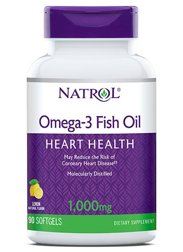 Omega-3 Fish Oil 1000 mg Natrol  (90 softgels)