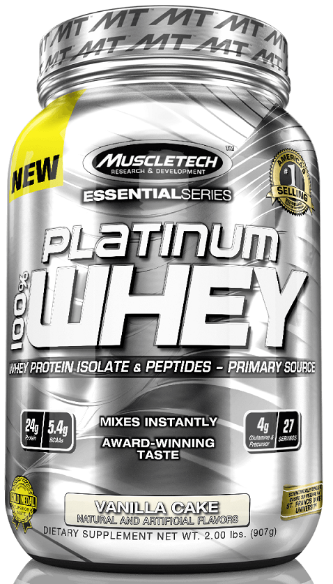 100% Platinum Whey Muscle Tech (907 гр)