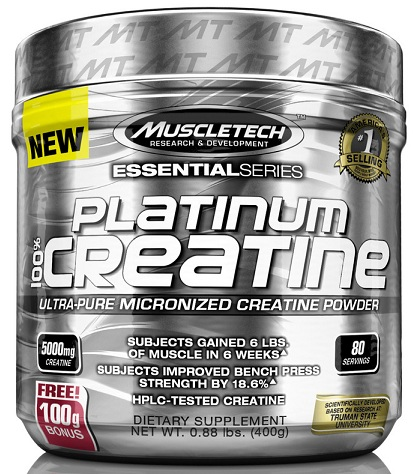 100% Platinum Creatine Muscle Tech (400 gr)