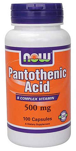 Pantothenic Acid 500 mg NOW (100 кап)