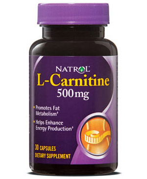 L-Carnitine 500 mg Natrol (30 кап)