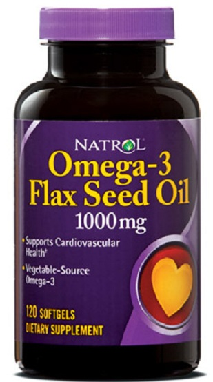 Omega-3 Flax Seed Oil 1000 mg Natrol (120 softgels)