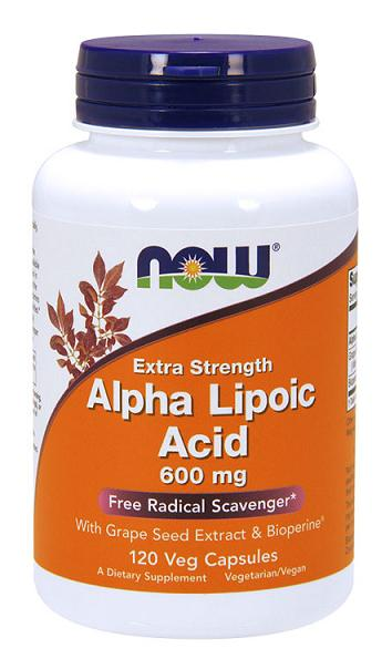 Alpha Lipoic Acid 600 mg NOW (120 вегетарианских капсул)