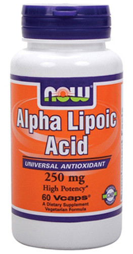 Alpha Lipoic Acid 250 mg NOW (60 вегетарианских капсул)