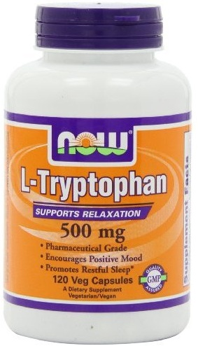 L-Tryptophan 500 mg NOW (120 Veg Capsules)