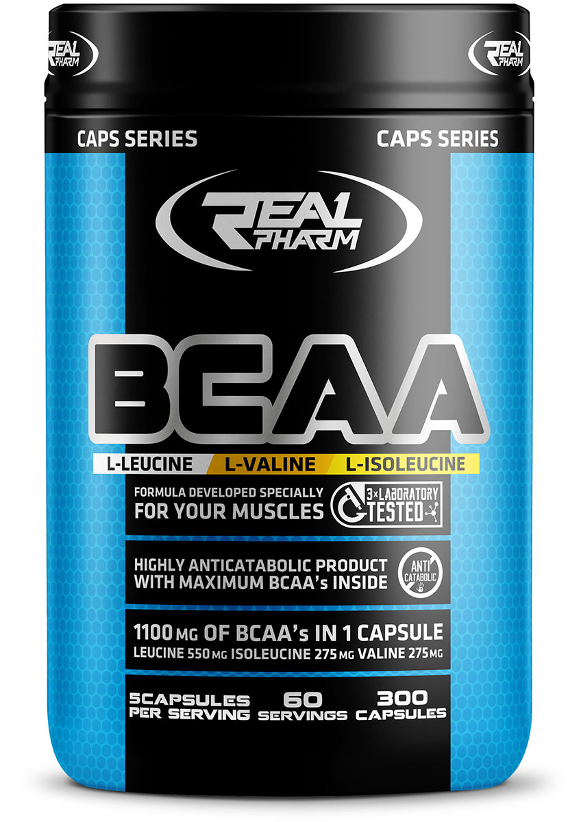 BCAA Real Pharm (300 кап)(годен до 08/2018)