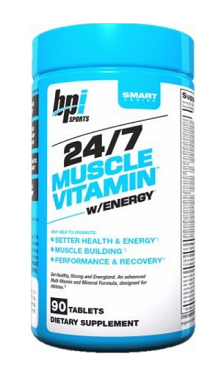 24/7 Muscle Vitamin Energy BPI Sports (90 таб)