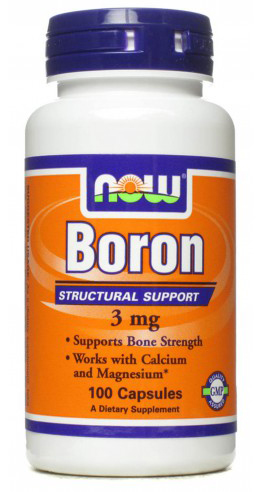 Boron 3 mg NOW (100 cap)