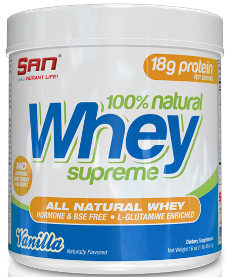 100% Natural Whey Supreme SAN (450 гр)