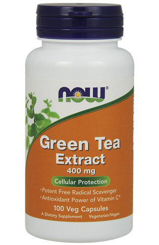 Green Tea Extract 400 mg NOW (100 Capsules)(EXP 07/2017)