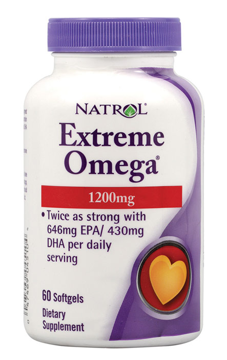 Extreme Omega 1200 mg Natrol (60 гелевых капсул)