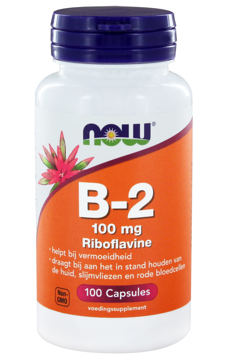 Vitamin B-2 100 mg NOW (100 кап)
