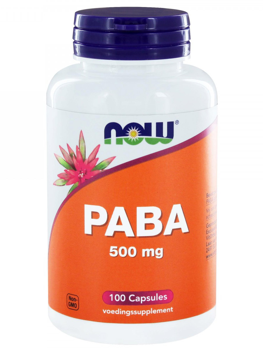 PABA 500 mg NOW (100 кап)