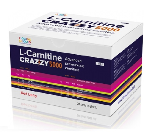 L-Carnitine Crazzy 5000 Liquid & Liquid (20 х 60 мл)