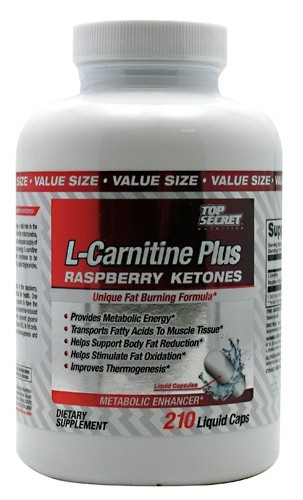 L-Carnitine Plus Raspberry Ketones Top Secret Nutrition (210 cap