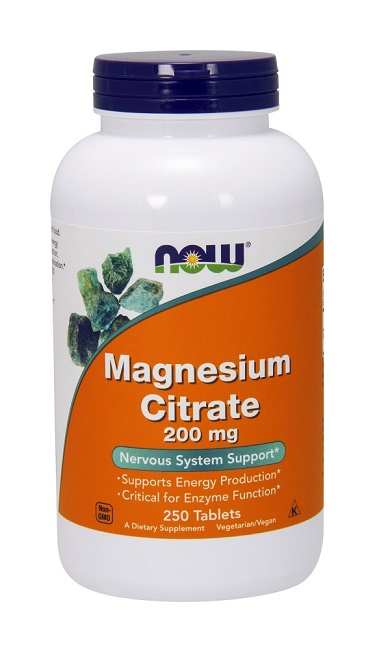 Magnesium Citrate 200 mg NOW (250 таб)