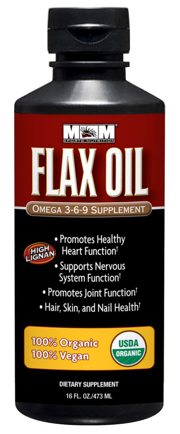 MAX Flax Oil 100% Organic Max Muscle (473 ml)