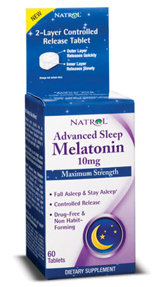 Melatonin Advanced Sleep 10 mg Natrol (60 таб)
