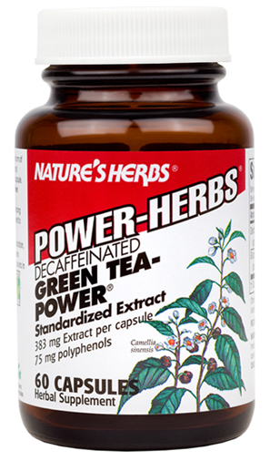 Green Tea-Power (Caffeine Free) Twinlab Nature's Herbs (60 кап)