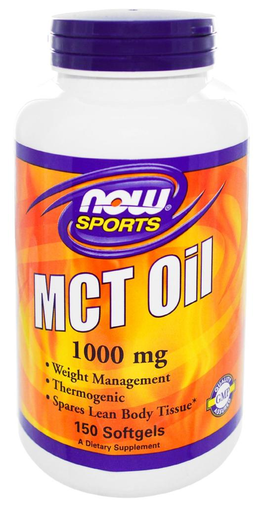 MCT Oil 1000 mg NOW (150 гелевых капсул)