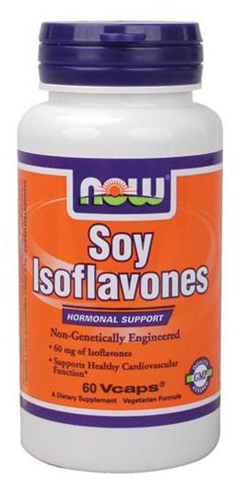 Soy Isoflavones 150 mg Non-GE NOW (60 Veg caps)