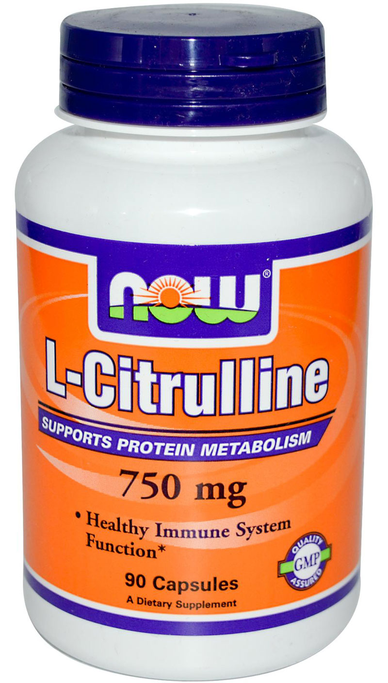 L-Citrulline 750 mg NOW (90 кап)