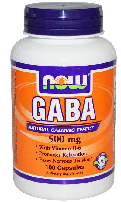 GABA 500 mg + B-6 2 mg NOW (100 капсул)