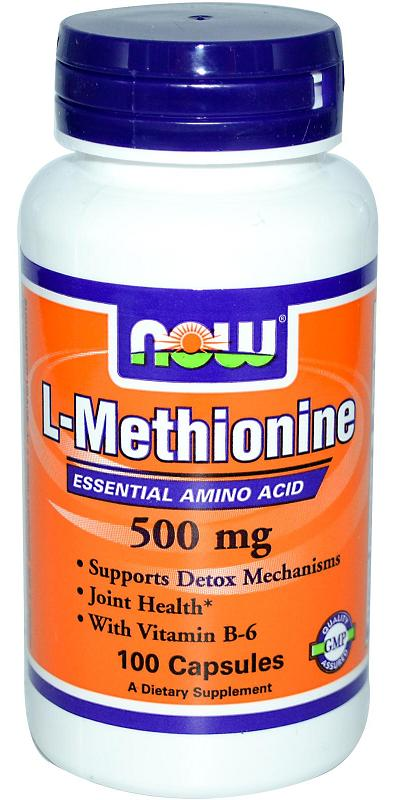 L-Methionine 500 mg NOW (100 кап)