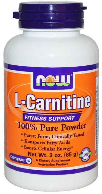 L-Carnitine Pure Powder 3 oz NOW (85 гр)(годен до 02/2017)