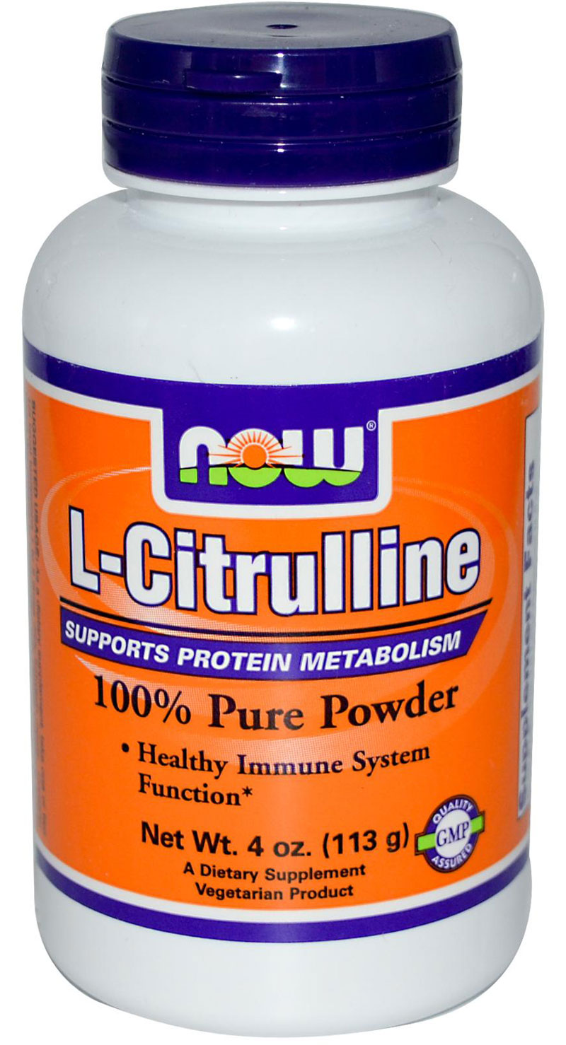 L-Citrulline Pure Powder NOW (113 гр)