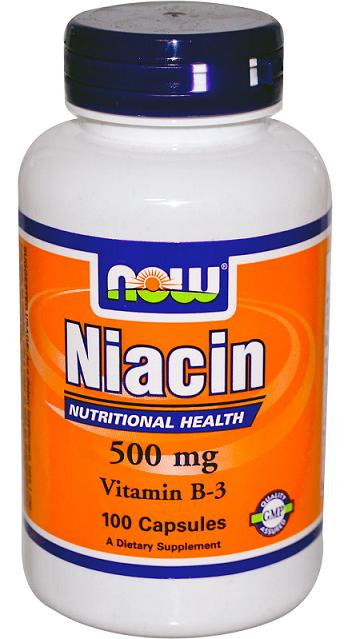 Niacin 500 mg NOW (100 кап)