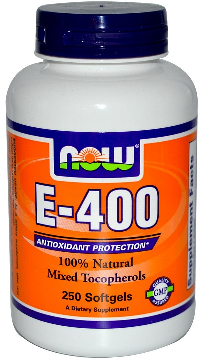 Vitamin E-400 IU MT NOW (250 гелевых капсул)