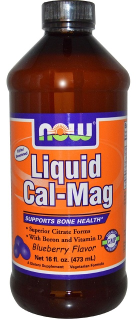 Liquid Cal-Mag Blueberry 16 oz NOW (473 мл)