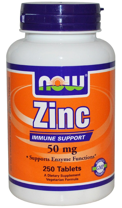 Zinc Gluconate 50 mg NOW (250 таб)