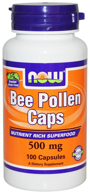Bee Pollen 500 mg NOW (100 Cap)