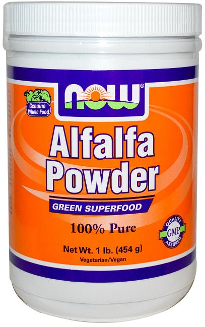 Alfalfa Powder 1 lb NOW (454 гр)