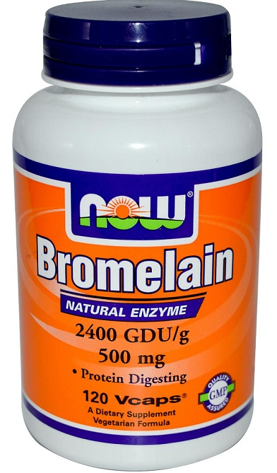 Bromelain 500 mg NOW (120 вег капсул)