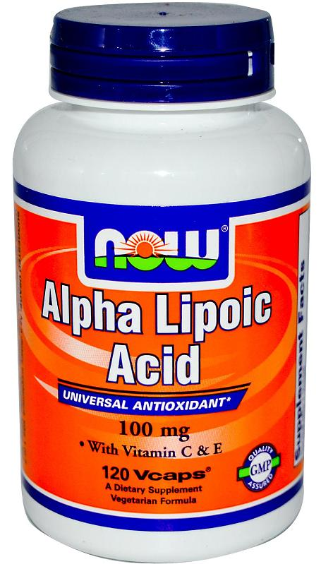Alpha Lipoic Acid 100 mg NOW (120 Vcaps)