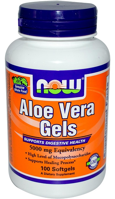 Aloe Vera 5000 mg NOW (100 Softgels)