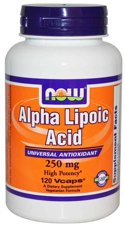 Alpha Lipoic Acid 250 mg NOW (120 вегетарианских капсул)