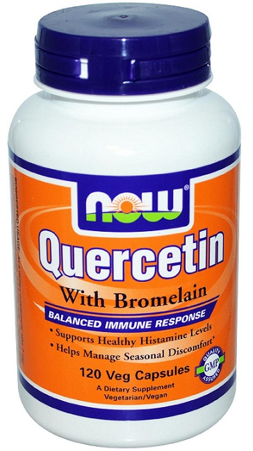 Quercetin with Bromelain NOW (120 Vcaps)