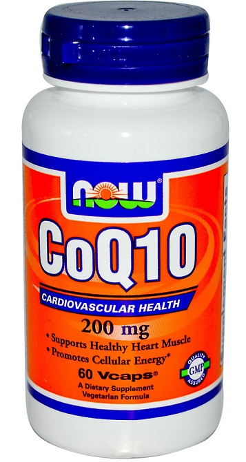 CoQ10 200 mg NOW (60 Vcaps)