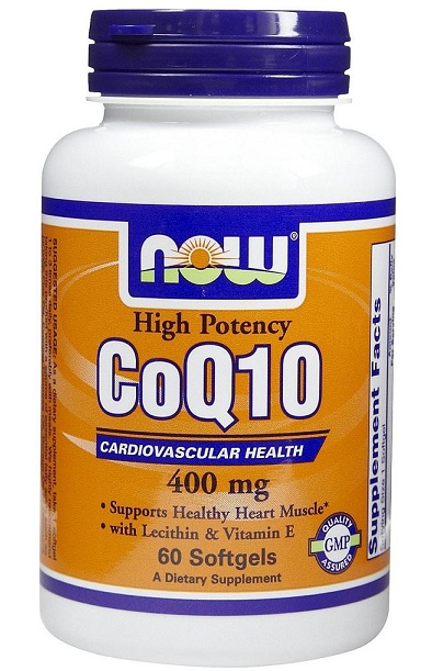 CoQ10 400 mg NOW (60 гелевых капсул)