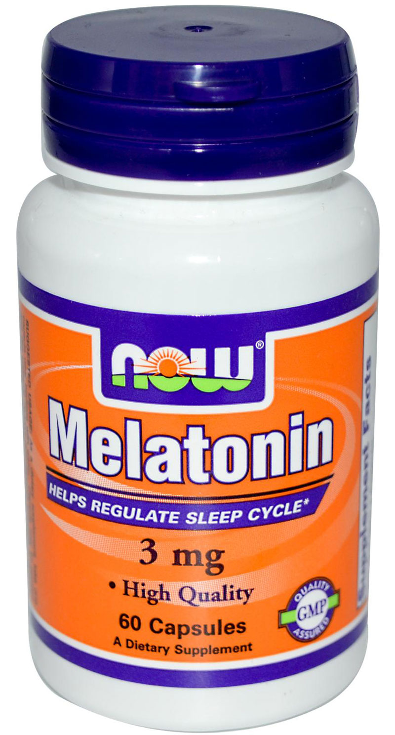 Melatonin 3 mg NOW (60 кап)