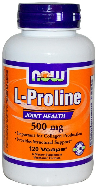 L-Proline 500 mg NOW (120 вег кап)
