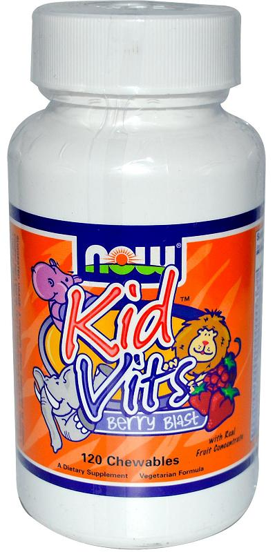 Kid Vits Berry Blast NOW (120 жев. таб)