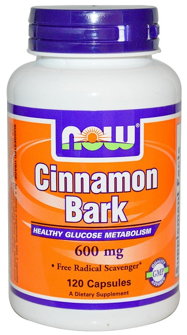 Cinnamon Bark 600 mg NOW (120 Capsules)