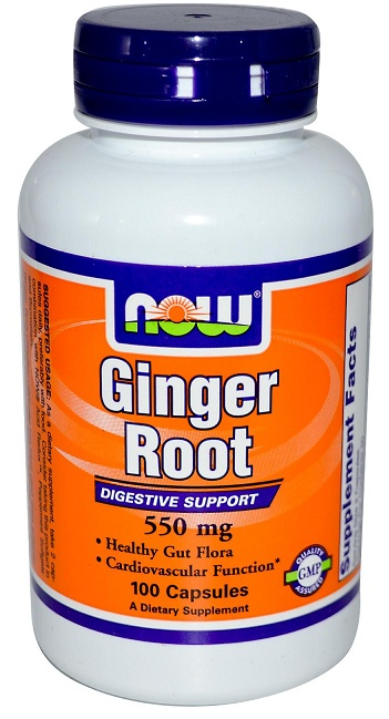 Ginger Root 550 mg NOW (100 Capsules)
