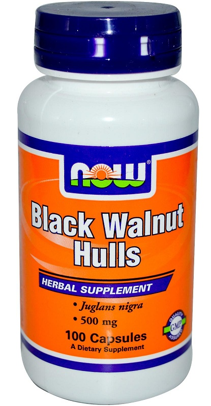 Black Walnut Hulls 500 mg NOW (100 Capsules)